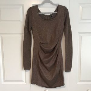 Express Brown / Bronze Sparkly Bodycon Dress